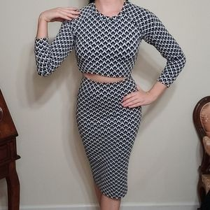 American Apparel Chevron Jacquard pencil dress
